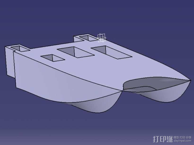 一搜酷炫的船 3D模型  图1