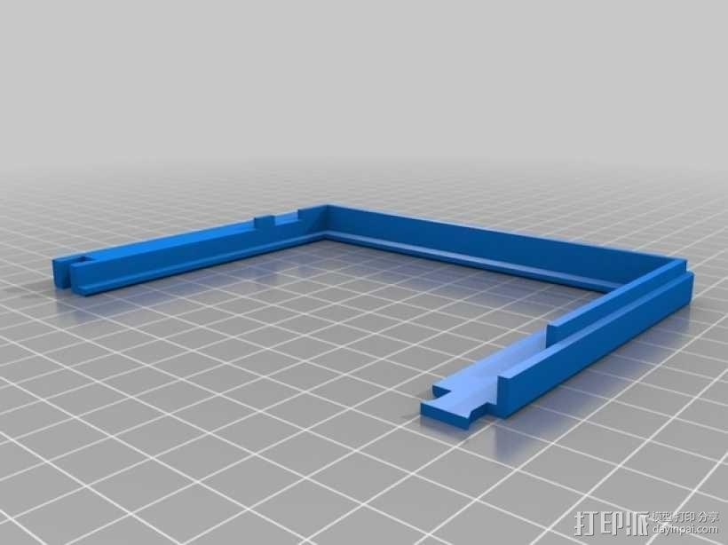 InMoov机器人触摸显示器外壳 3D模型  图3