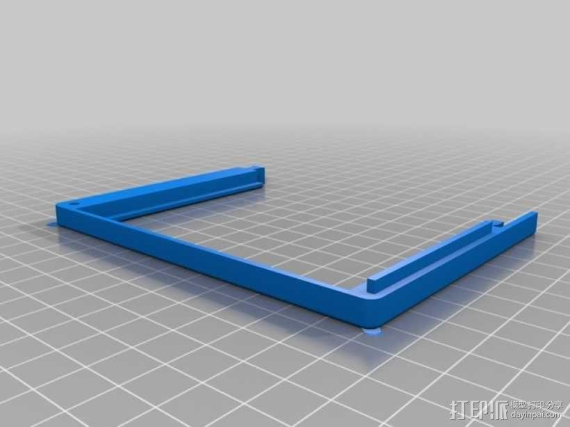 InMoov机器人触摸显示器外壳 3D模型  图4