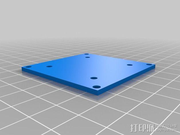 多轴飞行器 飞行控制器配适器 3D模型  图2