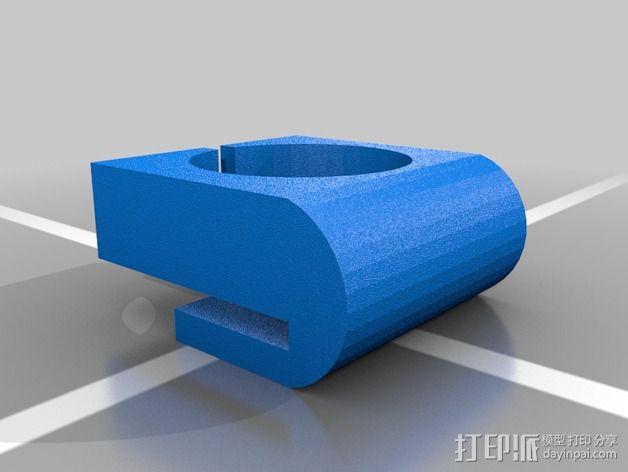 原声吉他拾音器固定夹 3D模型  图2