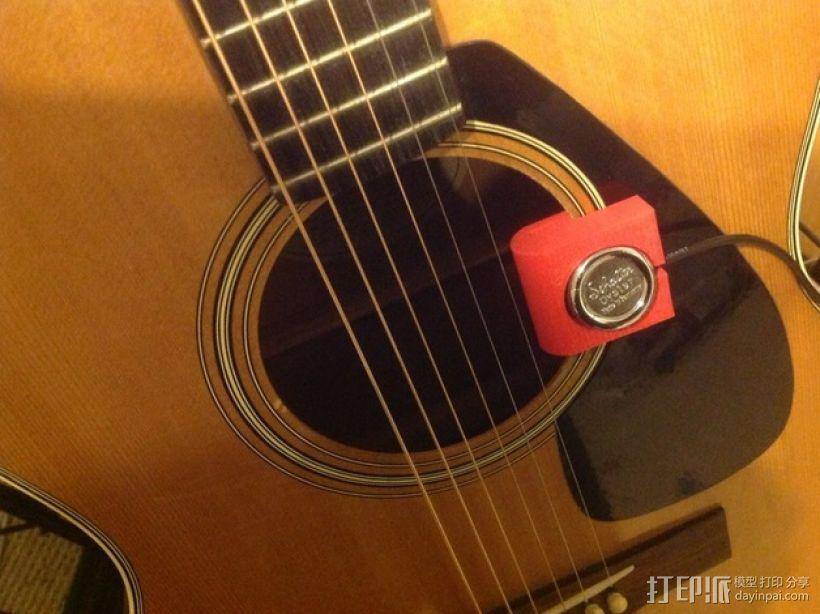 原声吉他拾音器固定夹 3D模型  图1
