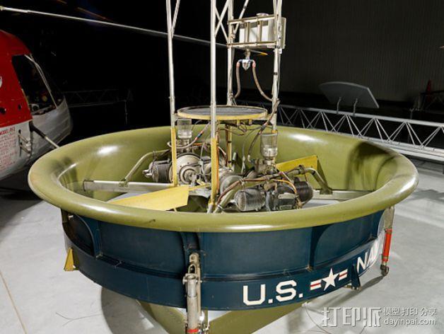 VTOL翱翔车支撑管 3D模型  图4