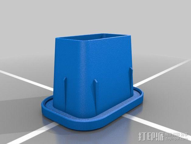 载重梁 后盖盖帽 3D模型  图2