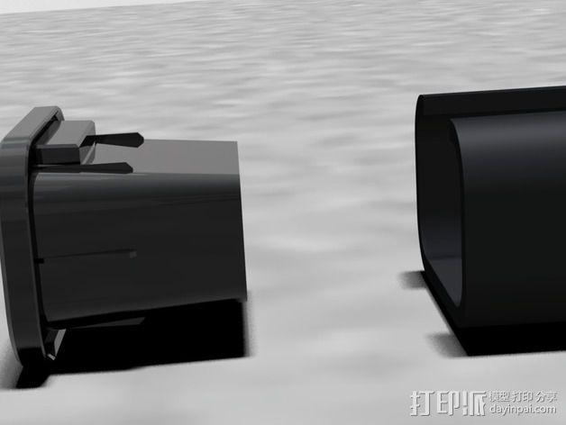 载重梁 后盖盖帽 3D模型  图3
