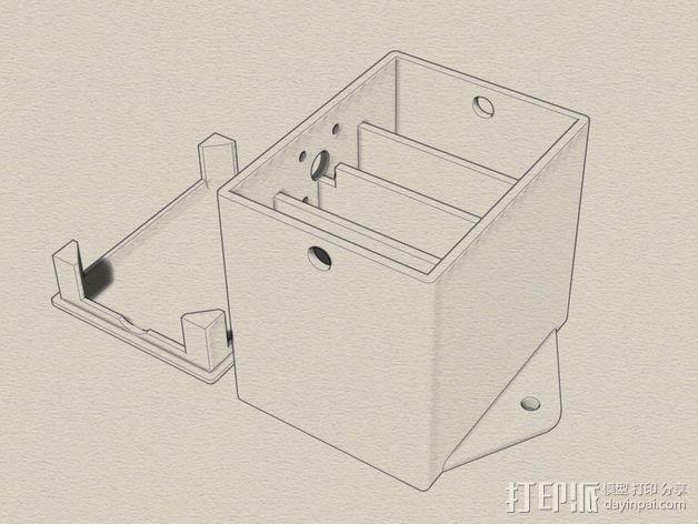 天线变压器 外壳 3D模型  图1