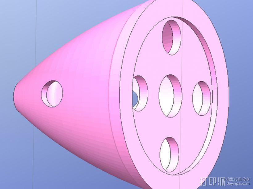 DLE55内燃机零部件 3D模型  图1