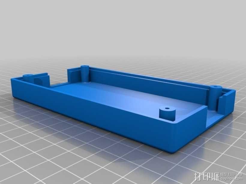 电视红色信号放大器 外壳 3D模型  图2