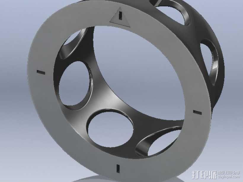 RVJET模型飞机微调器盖 3D模型  图2