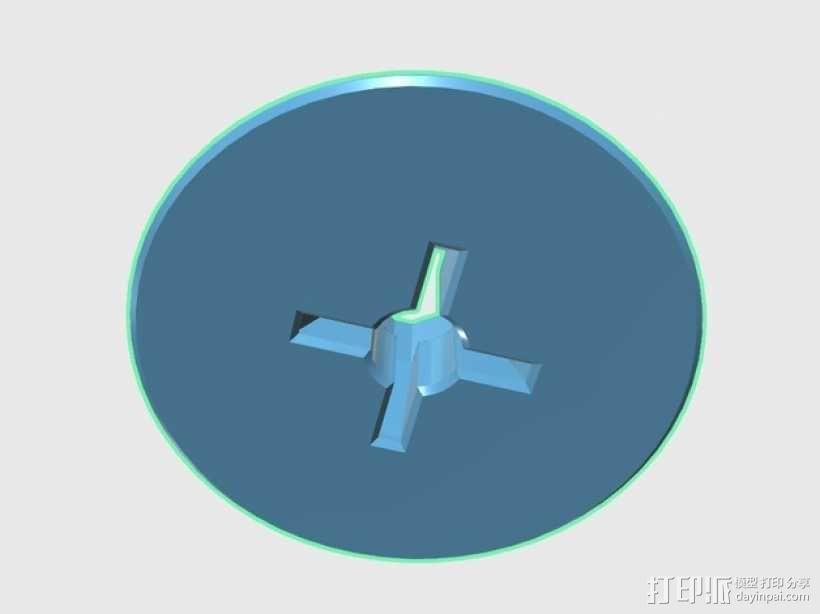 Neo-7M GPS模块底板 3D模型  图3