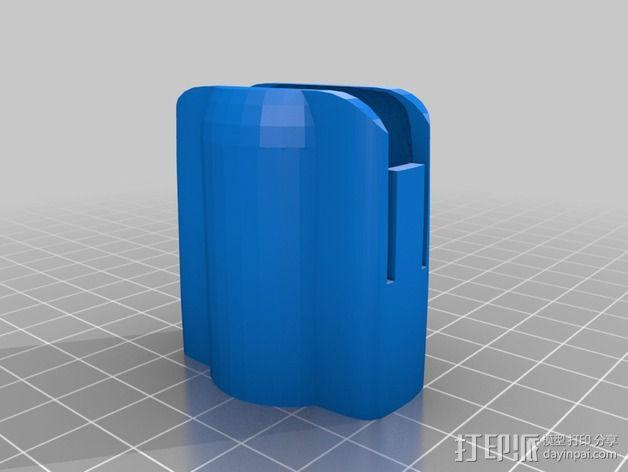 丰田普锐斯汽车遥控钥匙保护套 3D模型  图2