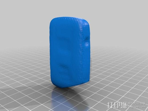 丰田普锐斯汽车遥控钥匙保护套 3D模型  图3