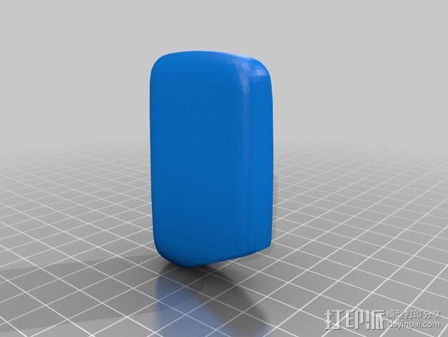 丰田普锐斯汽车遥控钥匙保护套 3D模型  图4