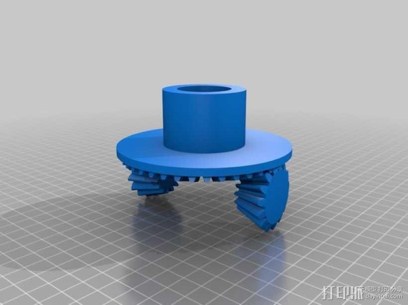 伞齿轮/锥齿轮 3D模型  图2