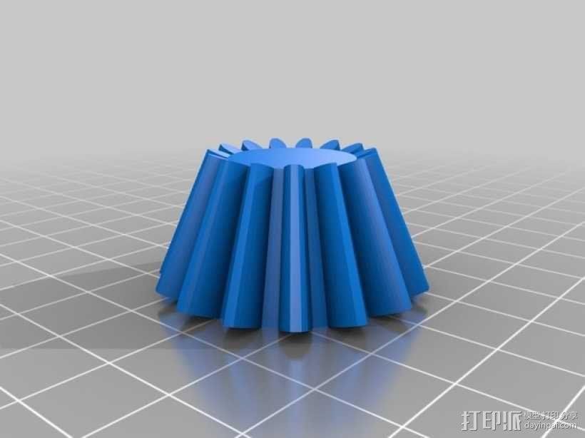伞齿轮/锥齿轮 3D模型  图4