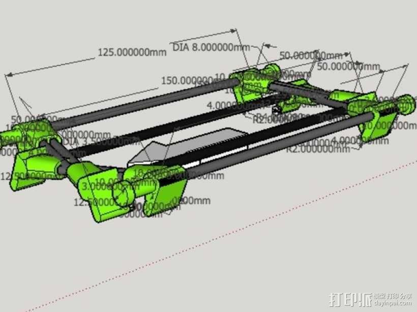 起落橇  3D模型  图2
