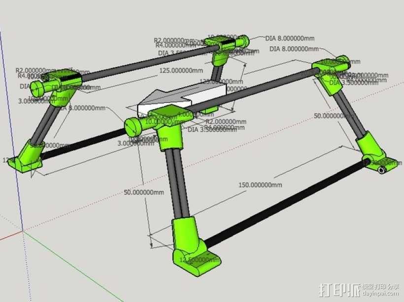 起落橇  3D模型  图1