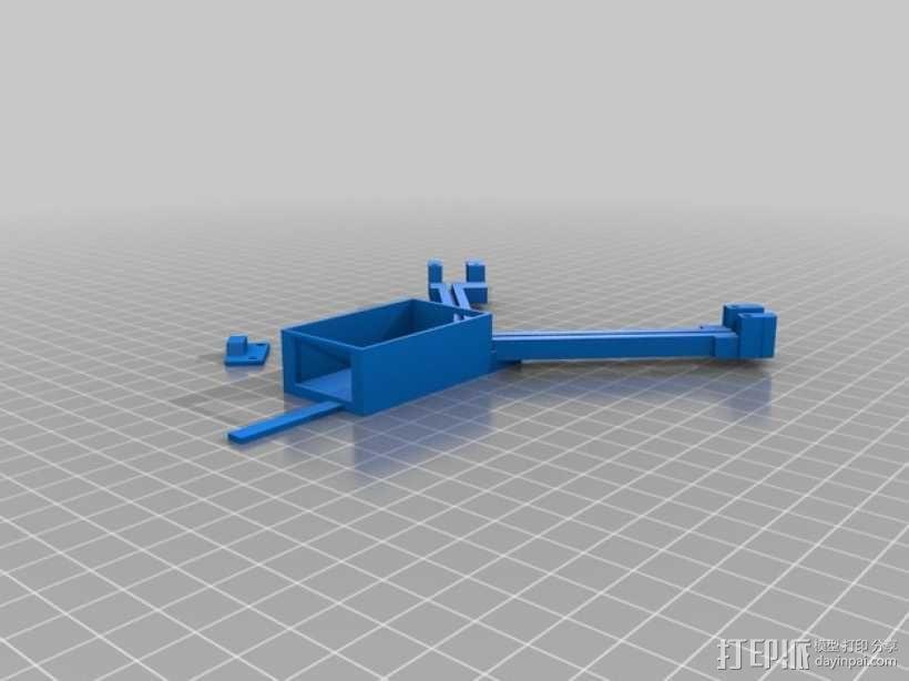FrSky X8R天线架 3D模型  图1