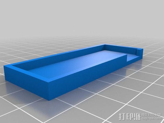 USB伏特安培计 外壳 3D模型  图3