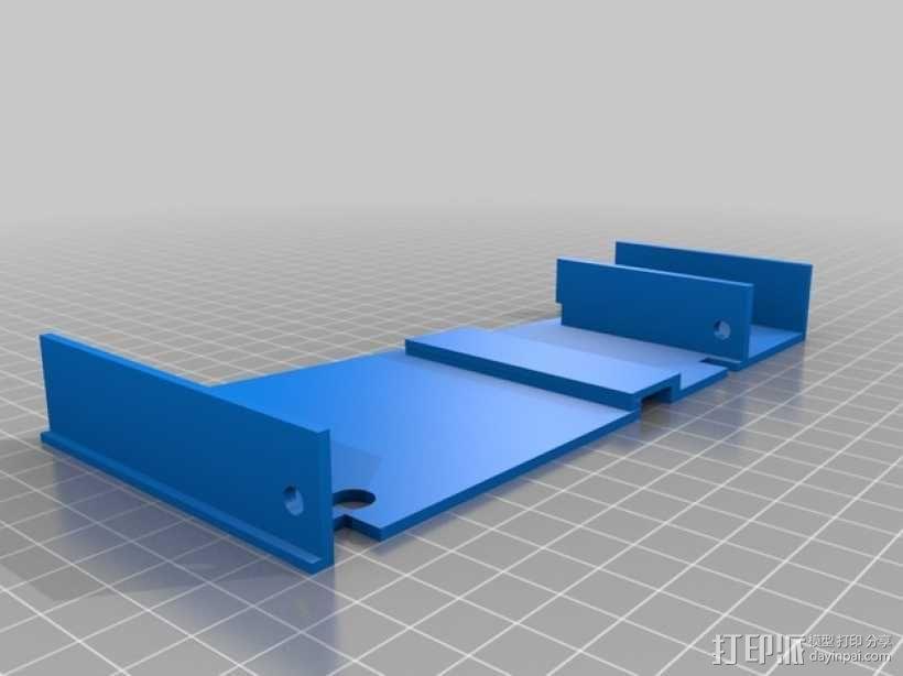 车载烟灰缸 支架 3D模型  图2