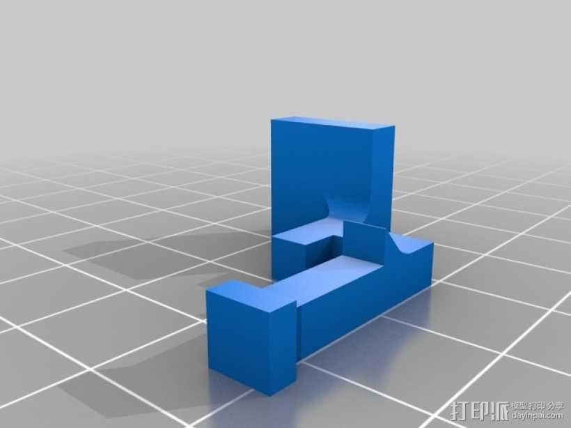 车载烟灰缸 支架 3D模型  图6