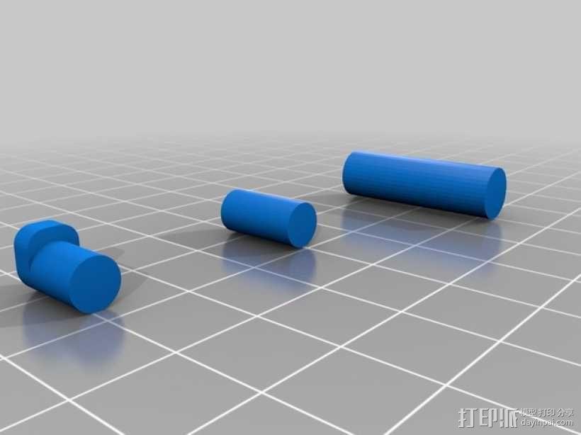 车载烟灰缸 支架 3D模型  图4