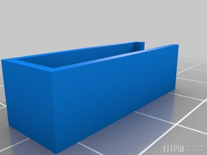 车载烟灰缸 支架 3D模型  图7