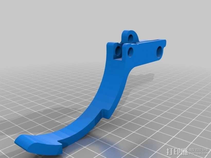 车载烟灰缸 支架 3D模型  图8