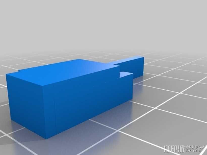 车载烟灰缸 支架 3D模型  图11