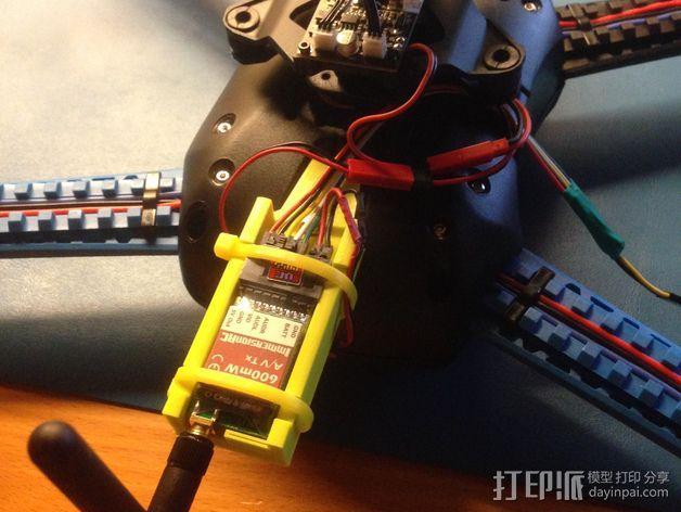 视频发射机 支架 3D模型  图1
