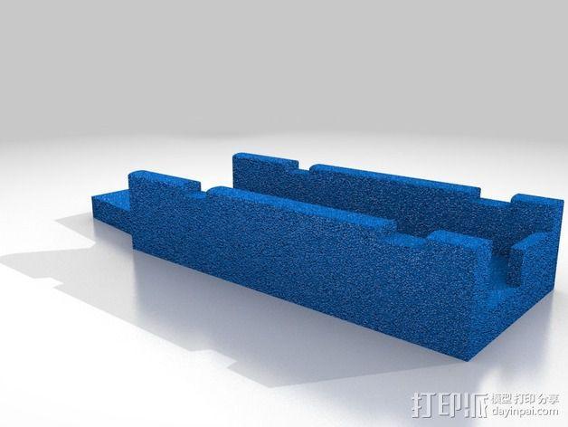 视频发射机 支架 3D模型  图2