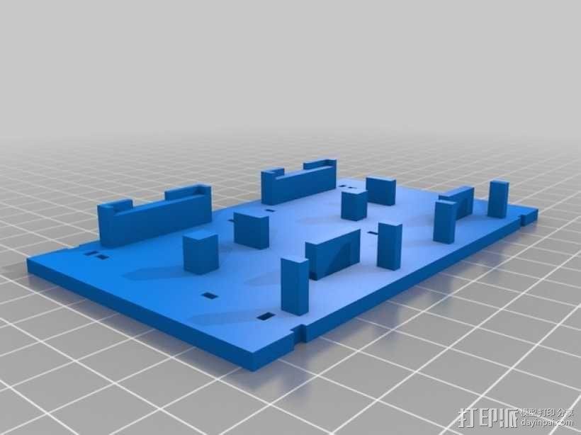 双视频发射机 支架 3D模型  图1
