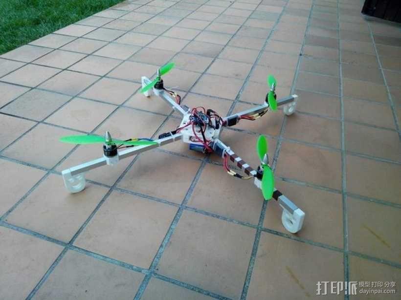 多轴飞行器 发动机架  3D模型  图1