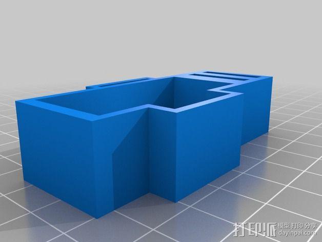 Yamaha Fazer摩托车保险丝保护架 3D模型  图5