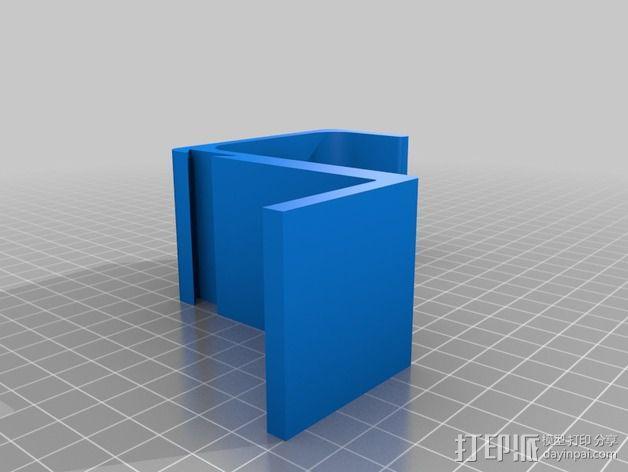 折叠椅 饮料架 3D模型  图2