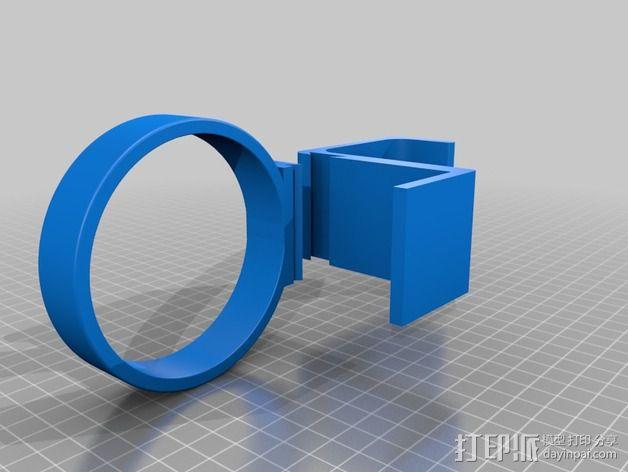 折叠椅 饮料架 3D模型  图3