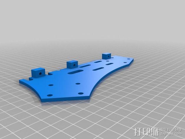 Spyda 500四轴飞行器中心板 3D模型  图2