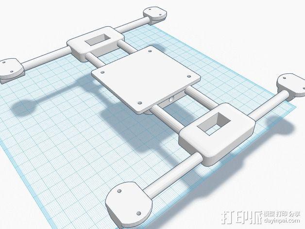 迷你四轴飞行器零部件 3D模型  图4