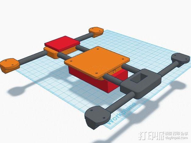 迷你四轴飞行器零部件 3D模型  图3