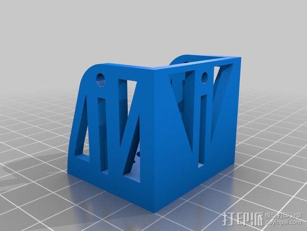 发动机架 3D模型  图2