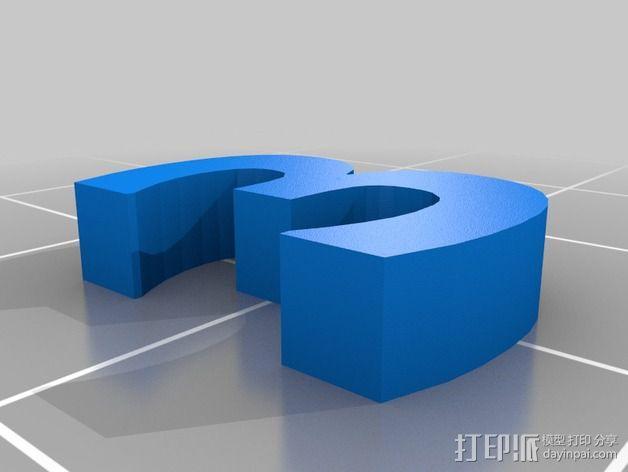 英文字母和数字模型 3D模型  图3