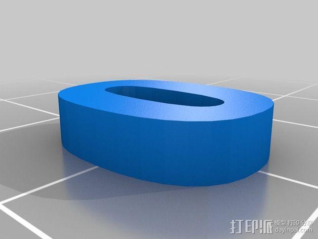 英文字母和数字模型 3D模型  图2