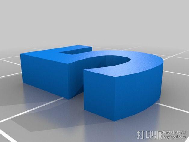 英文字母和数字模型 3D模型  图6