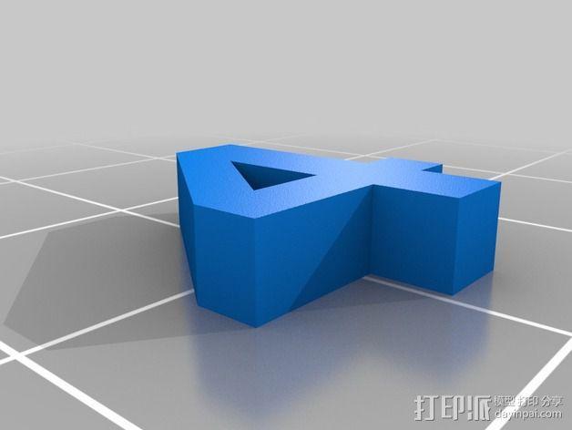 英文字母和数字模型 3D模型  图4