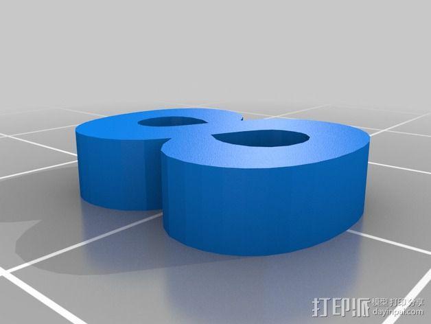 英文字母和数字模型 3D模型  图8