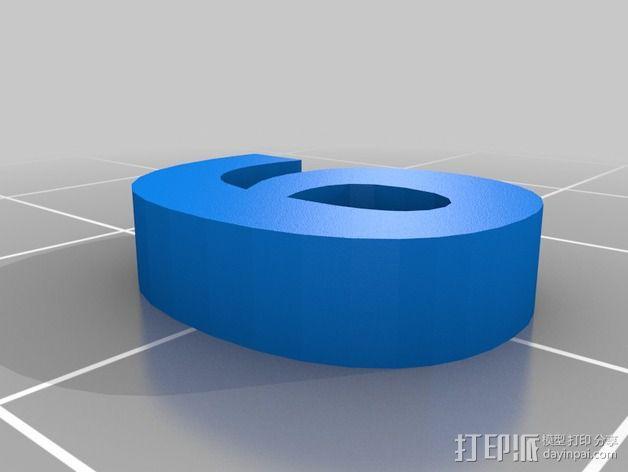 英文字母和数字模型 3D模型  图7