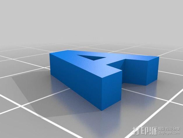 英文字母和数字模型 3D模型  图11
