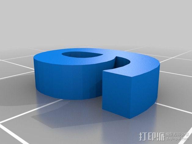 英文字母和数字模型 3D模型  图10