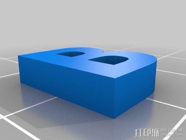 英文字母和数字模型 3D模型  图13