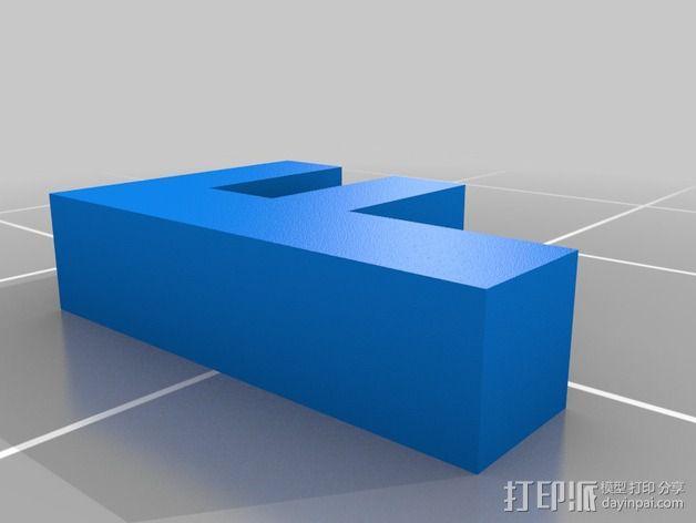 英文字母和数字模型 3D模型  图15